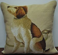 """21"""" Square Dog Handmade Wool Needlepoint Cushion/Pillow Cover Free Shipping"""
