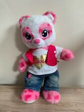 Build A Bear Pink & White Panda With Sound Box + Outfit