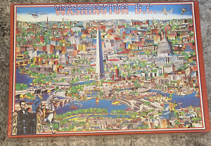 CITY OF WASHINGTON DC1988 Jigsaw Puzzle by Buffalo Games 504 Pieces New