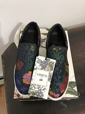 Erdem X H&M Loral Slip On Shoes Sneakers Black Floral Size US7 Sold Out