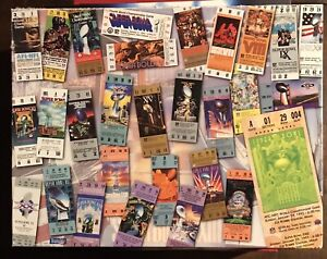 1995 Springbok 500 piece Jigsaw Puzzle Super Bowl 1967-1995 Collage Ticket