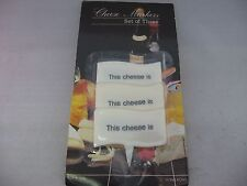 """Vintage Cheese Markers Set of Three """"This cheese is"""""""