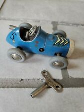 Vintage Schuco #1041 Micro Racer Western Germany Blue Working with key