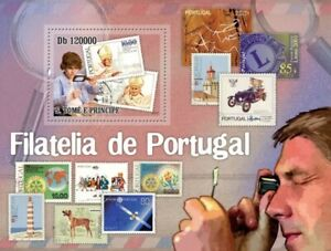 Philately in Portugal / stamp on stamp / Pope John Paul II St. Tome  #28ST10510b