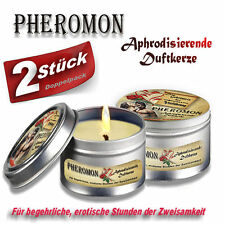 2 St.  Pheromon  Aphrodisierende Duftkerze  - Doppelpack -