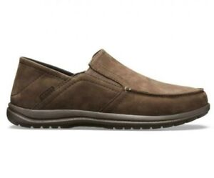 Crocs Santa Cruz Convertible Leather Slip On Espresso - Size 9