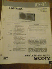 Sony ICF-35 4 Band Receiver  Service Manual