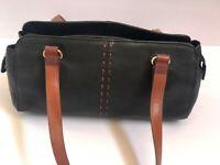 Fossil Handbag Purse Leather Black Satchel Shoulderbag Tote Purse