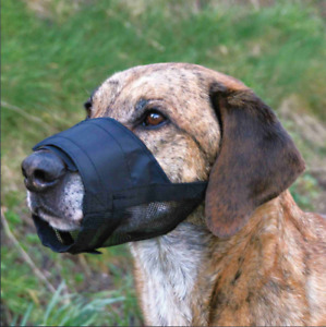 Trixie Dog Muzzle with Net Insert fully adjustable snout | Nose circumference