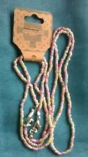 S0010 - Handmade Pink Bead Necklace and Matching Bracelet