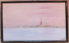 Cyrille Thano Zaphiratos huile sur toile oil on canvas 1982 view city skyline