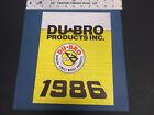 VINTAGE 1986 DU-BRO MODEL PRODUCTS CATALOG W//PRICE LIST *vG-COND*