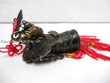 Elephant Feng Shui Brass Oriental Lucky Chinese Bell Charm Wind Chime Dragon #A
