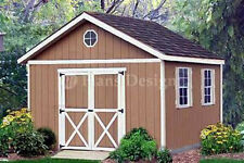12 x 12 Garden Storage Gable Shed Plans / Building Blueprints, Design #21212