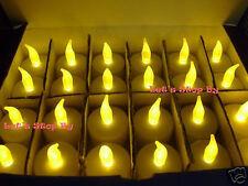 Lot 144 Battery Led Amber Tealight Candle Wedding Party Decoration Tea Light