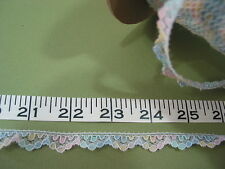"2915  LACE Mult Colored Pastel  Nylon 1/2"" 500 Yds"
