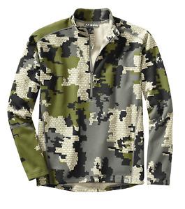 Kuiu Ultralight Hunting Camo Peloton 200 Zip-T Sweatshirt Jacket XL - Verde 2.0