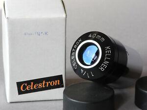 """CELESTRON Vintage Eyepiece 40mm Kellner 1.25"""" Volcano Top Circle Dash (-) Carton"""