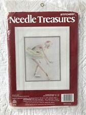 Vintage Needle Treasures Crewel Stitchery Kit Swan Lake Ballerina