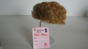 BELL CERAMICS Vintage doll wig TRIXY LT Copper size 11-12 - NEW OLD STOCK (NOS)