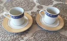 """2 tasses café + soucoupes """"la maison autour du monde""""  NEUVES !!"""