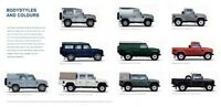LAND ROVER DEFENDER 90, 110 & 130 COLOURS RETRO POSTER PRINT CLASSIC ADVERT A3!!