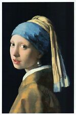 Girl with a Pearl Earring by J. Vermeer, Classic Art Painting -- Modern Postcard