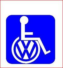 Vw Camper Surf Van T3 T4 T5 Golf transportador de personas con discapacidad Silla De Ruedas Sticker Decal
