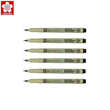 Sakura Pigma Micron PN | Journaling Black Archival Ink | Pack of 6 Pens