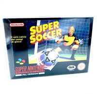 Super Soccer Jeu Super Nintendo SNES 100% Complet avec Cristal Box Near Mint PAL