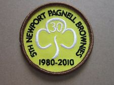 Newport Pagnell Brownies Girl Guides Cloth Patch Badge L5K A