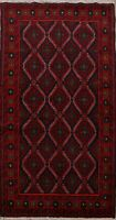 Handmade Tribal Geometric Balouch Traditional Area Rug Oriental Foyer Carpet 4x7