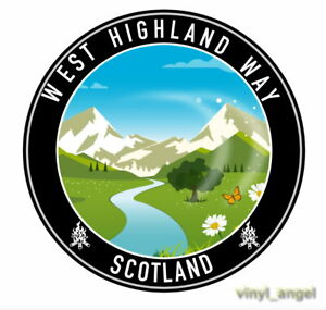 2x West Highland Way Scotland Mountain View Scottish Flag Vinyl Sticker #2156