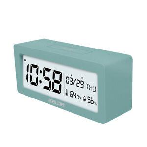 BALDR Digital Alarm Clock  Large Date&Time Display Indoor Temperature Humidity