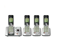 VTech CS6529-4 DECT 6.0 Phone Answering System 4 Cordless Handsets Silver Black
