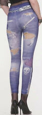 Punk Rock Distressed Leggings Halloween Adult Small Medium Large Up to Size 14