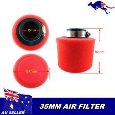 Red 35mm Pod Foam Air Filter Cleaner 50cc 110cc PIT PRO Quad Dirt Bike ATV Buggy