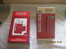 Wooden Coca Cola Vending Machine Bank, New in box