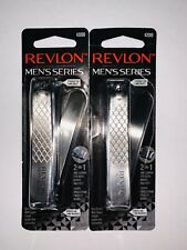 2x Revlon Men's Series 2 In 1 Nail Clipper 42099  NEW Free Shipping