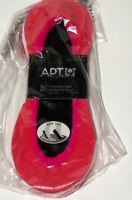 APT.9 Women's 3-Pk. Seamless Extra Low-Cut Liner Socks Coral/White/Pink One Size