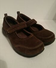 LL Bean Womens Confort Mocs, Mary Jane Strap Brown Size 6.5M