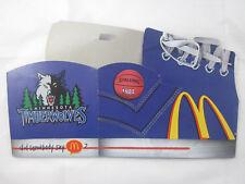 McDonald's Minnesota Timberwolves Happy Meal Box - Purple Sneaker -Regional 1996