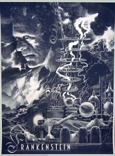 Nicolas Delort Frankenstein Variant Universal Monsters Poster Print Mondo Artist
