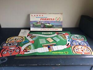 Vintage: Waddington Formula 1 Car Racing Board Game - 1962 -