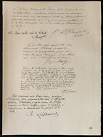 1926 - Litografía Cita Del General Bourgeois, Príncipe Rolland Bonaparte