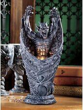 Medieval Gothic  Shadow Menecing Gargoyle Beast Lamp Sculpture NEW
