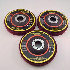 """Premium 4.5""""x7/8"""" Medium Grit Non-Woven Flap Discs - 3 discs"""
