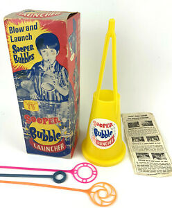 Vintage SOOPER BUBBLE LAUNCHER Super Blower Toy Soap Pipe Wand AS SEEN ON TV
