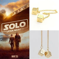 Big Han Solo Dice Lucky Prop Dice with Cross Chain Bracelet Star War Jewelry