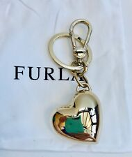 Furla Gold Tone Sweet Heart Keyring Fob New without Tags